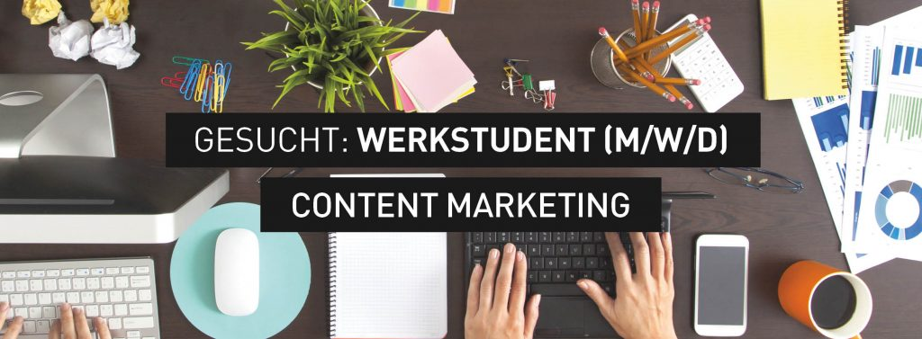 Stellenanzeige Werkst Content Marketing Titelbild